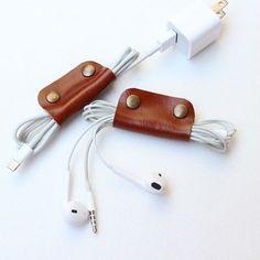 2014 fashion 100% Genuine Leather phone cable organizer,earphone case, phone bag genuine leather goods