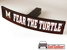 Maryland Fear The Turtle Trailer Hitch Cover by tailtalker on Etsy