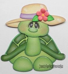 Tortuguita Foam Crafts, Paper Crafts, Punch Art Cards, Paper Punch, Craft Punches, Paper Piecing Patterns, Scrapbook Embellishments, Animal Cards, Kids Cards