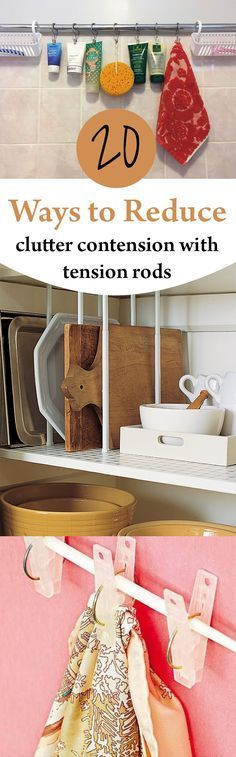 Easy ways to reduce clutter with tension rods. * Read more at the image link. #CampingChecklist
