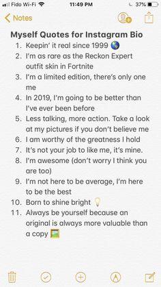 myself quotes for instagram bio