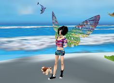 CaptI felt like going to the seaside today...listen to the waves, clean the sand of my puppy...lolured Inside IMVU - Join the Fun!
