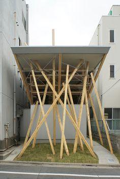 堀川秀夫造形建築研究所 (Hideo Horikawa Architect & Associates)による作業所兼倉庫「ヌースフィット正倉院」を見学してきました。 述べ床面積40m2程の木造2階建て。業務用シャンプー・化粧品を製造し美容院に供給している会社ヌ...