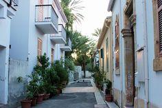 A beautiful street in the Old town of Nicosia.