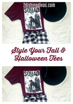 This really cute Hocus Pocus tee for this fall season got me inspired to do some looks with my favorite fall and Halloween tees. Here are a few fun ways to incorporate seasonal tees into your daily outfits. #fashion #style #fall #halloween #tees