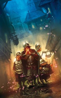 "This is the French cover art for ""Nightwatch"" by Sir Terry Pratchett. by Marc Simonetti."