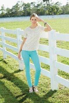 Miss Me Colored Flap Pocket Skinny Jean #belk #color