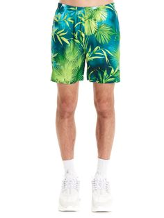 TO-JP Womens 3D Printing Beach Shorts Square Pattern Swim Trunks