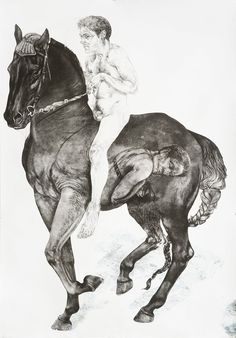 Diane Victor 4 Horses: Bare back, 2010 Etching, embossing, digital printing and drawing 171 x 121 cm Art Syllabus, Four Horses, South African Artists, Horse Sculpture, Equine Art, Horse Art, Top Artists, Painting & Drawing, Diana
