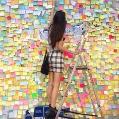 "Post It on the Lennon Wall - Umbrella Movement at Admiralty, Hong Kong. ""You may say I'm a dreamer. But I'm not the only one. I hope some day you will join us. And the world will live as one."""