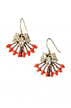Fan Fringe Layered Coral Earrings   Coral Cay Earrings   Stella & Dot