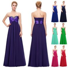 b4374a28af1 2016 PLUS SIZE Long Prom Formal Gown Ball Party Homecoming Wedding Evening  Dress  GraceKarin