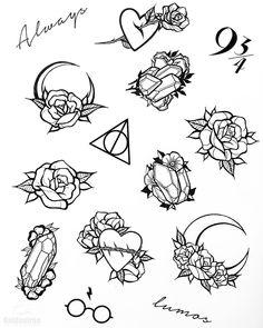 Flash Art Tattoos, 13 Tattoos, Tattoo Flash Sheet, Mini Tattoos, Body Art Tattoos, Small Tattoos, Sleeve Tattoos, Tattoo Sketches, Tattoo Drawings