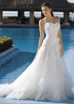 Demetrios beach wedding gowns
