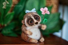 little lemur Lory by YulyaMartinovadolls on Etsy