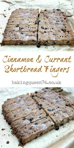 Cinnamon and currant shortbread fingers - a traditional shortbread recipe enhanced with dried currants and cinnamon to make it even more delicious! Tray Bake Recipes, Baking Recipes, Cookie Recipes, Dessert Recipes, Aga Recipes, Pudding Desserts, Currant Cake Recipe, Currant Recipes, Xmas Food