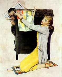 Norman Rockwell. Pinterest in the early stages
