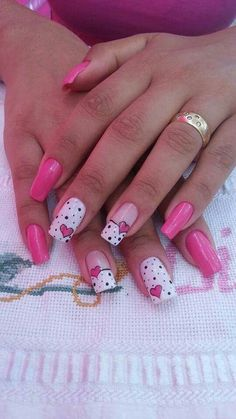 Beautiful Nail Designs To Finish Your Wardrobe – Your Beautiful Nails Beautiful Nail Designs, Beautiful Nail Art, Gorgeous Nails, Toe Nail Designs, Acrylic Nail Designs, Art Designs, Toe Nails, Pink Nails, Valentine Nail Art