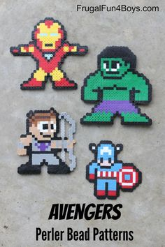 Avengers Perler Beads Patterns - This is a great classic craft for kids!