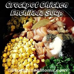 Crockpot Chicken Enchilada Soup recipe is a hearty, clean eating soup full of flavor and healthy, wholesome goodness.