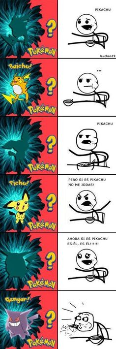 Chistes de pokémon,dragon ball z , naruto y naruto shippude is part of Pokemon memes - Pokemon Comics, Pokemon Funny, Pokemon Memes, Pokemon Go, Pikachu, Pokemon Pictures, Funny Pictures, Cereal Guy, Pokemon Dragon