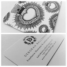 We love these business cards by @Daniëlle Bergman