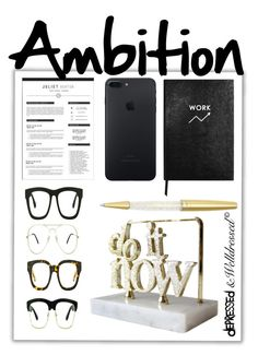 """Ambition"" by beingsilly ❤ liked on Polyvore featuring Silvana, Sloane Stationery and Swarovski"