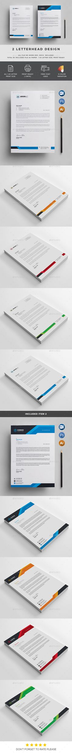 Letterhead - Stationery Print Templates Download here:https://graphicriver.net/item/letterhead/19939021?https://graphicriver.net/item/letterhead/19940111?ref=classicdesignp