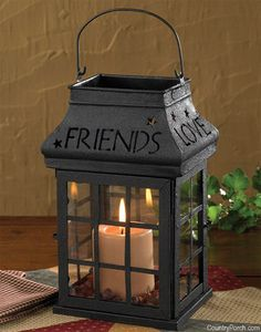 Love Home Family Friends Lantern
