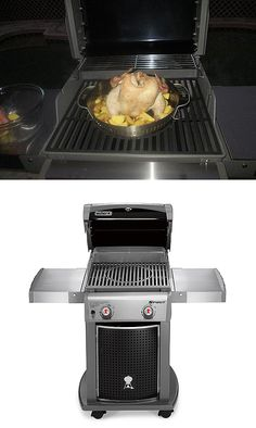 """That's the Weber Spirit E-210 Propane Gas Grill in action with the optional poultry roaster. Home Depot customer weberfan says he'll going back to Home Depot to get the wok and pizza accessories to expand his backyard grilling possibilities even further. """"There is a reason Weber is # 1--Quality,"""" he writes."""