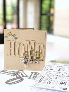 Stampin Up Eclipse Home card #eclipse #newhome #cardideas