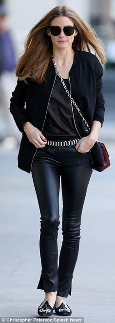 New hour, new outfit: The 28-year-old later changed into a pair of sexy leather pants that she teamed with a zippered black jacket