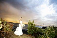 A beautiful bride on Gar Woods' Beach
