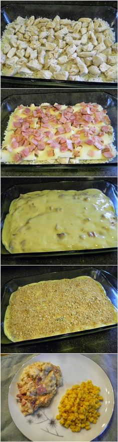 Chicken Cordon Bleu Casserole - super easy way to make a dinner that is usually a pain to make