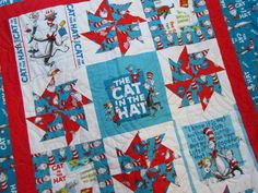 Dr Seuss Quilt The Cat in the Hat for Baby or Toddler