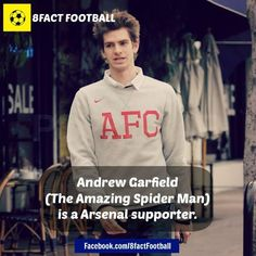 Andrew Garfield is a Arsenal supporter