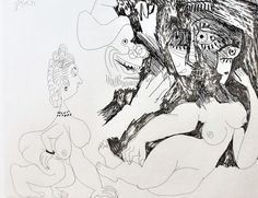 Bloch #1887 Untitled (12 Avril 1970 II) by Pablo Picasso - Etching