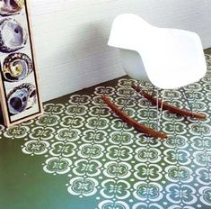 Painted floor.