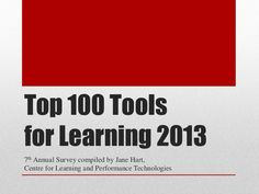 Top 100 Tools for Learning 2013