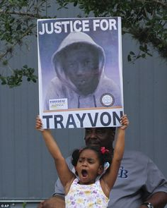 Supporters of Trayvon Martin react to the verdict