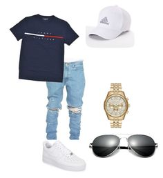 """Untitled #5"" by jcordoba on Polyvore featuring NIKE, Michael Kors, adidas, men's fashion and menswear"