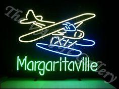 Jimmy Buffet Margaritaville Neon Sign Bar Man Cave Plane Party Drink Music 18x12