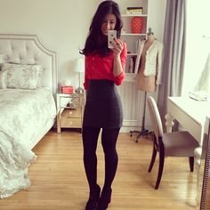 Look of the day🌺 Basic Outfits, Modern Outfits, Casual Outfits, Cute Outfits, Fashion Outfits, Womens Fashion, Stockings Outfit, Pantyhose Outfits, Tights Outfit