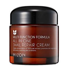 MIZON ALL IN ONE SNAIL REPAIR CREAM BEST FOR: Solving all your skin problems, like wrinkles, blemishes, acne scars, and more at once FUN FACT: This product contains 92 percent snail mucus extract to regenerate skin, reverse signs of aging, and promote recovery from damage. Regenerates skin Anti-aging Helps reduce scars and blemishes PRICE: $13