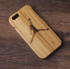 Apple i Phone 6/6s Plus Case Cover Air Jordan Custom Pattern Wooden Wood Bamboo #Cornmi
