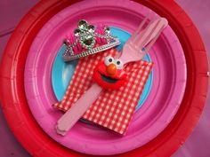 Tea Party at a Elmo Party #elmo #party