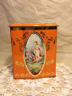 Orange Tin Tin Can  Collectible Tins by TheCookieClutch on Etsy