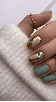 Manicure Nail Designs, Manicure Y Pedicure, Stylish Nails, Classy Nails, Cute Nails, Pretty Nails, Nail Paint Shades, Glamour Nails, Modern Nails
