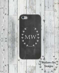 $19.00 Chalkboard Personalized Monogramed White by MadisonAveCases Chalkboard Personalized Monogramed White Customized - iPhone 5s Case, iPhone 4 Case, iPhone 4s Case, iPhone 6, Tough Case, Custom Phone Case