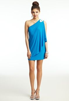 Prom Dresses 2013 - Short Jersey One Shoulder Drape Dress from Camille La Vie and Group USA